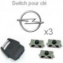 3 Switch pour clé OPEL