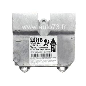 Réparation calculateur airbag 13283819 327963935