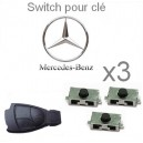 3 Switch ( bouton) pour clé MERCEDES-BENZ