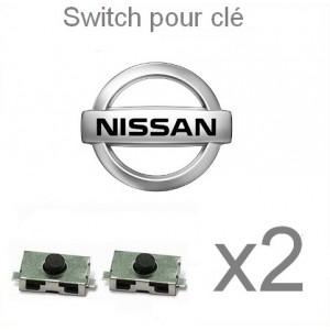 2 Switch (poussoir bouton) pour clé NISSAN